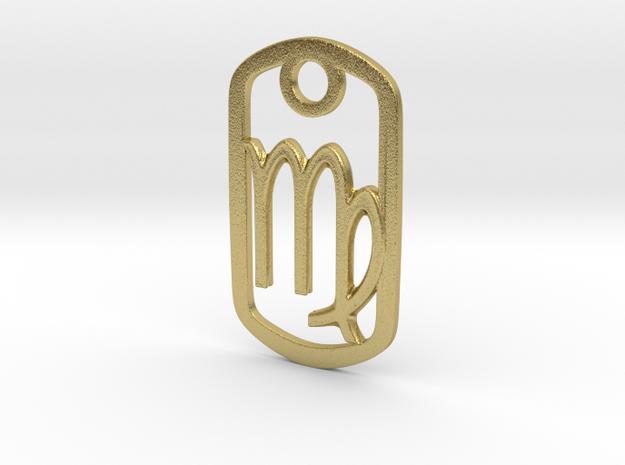 Virgo Pendant in Natural Brass
