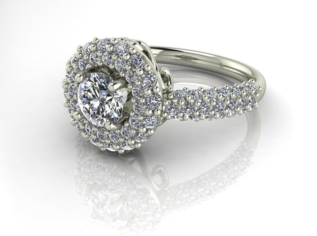 Grace Multi Halo ring NO STONES SUPPLIED in Fine Detail Polished Silver