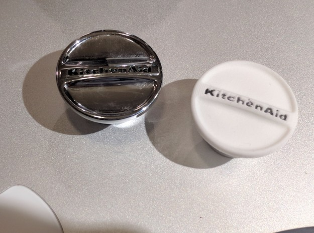 "KitchenAid Stand Mixer Replacement Cap ""KitchenAid in Metallic Plastic"