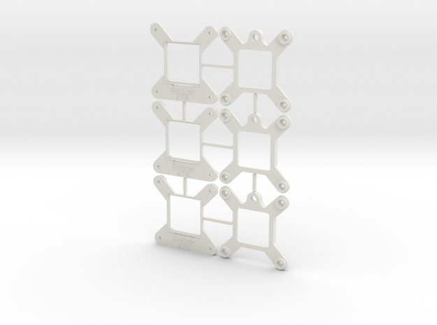 Socket 478 CPU Bauble 3-Pack - (repaired) in White Natural Versatile Plastic