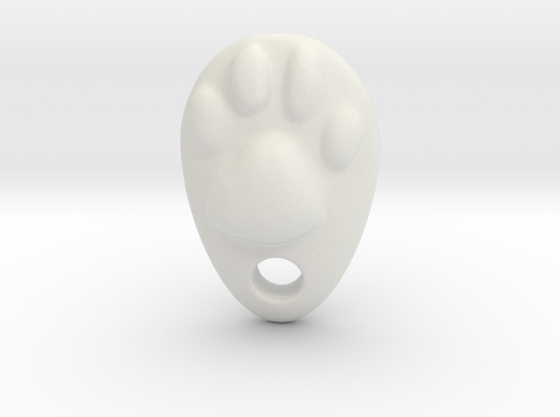 Cat Hand A1 in White Natural Versatile Plastic: Small