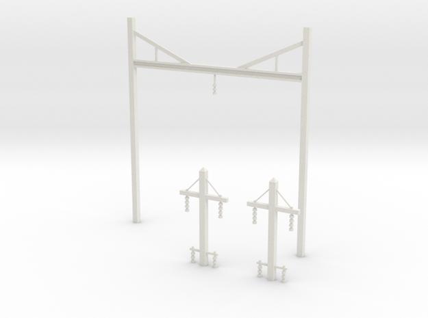 Prr catenary v2 in White Strong & Flexible: 1:87 - HO
