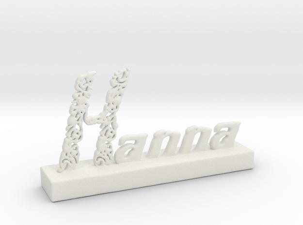 Hanna Oriental Pattern in White Natural Versatile Plastic
