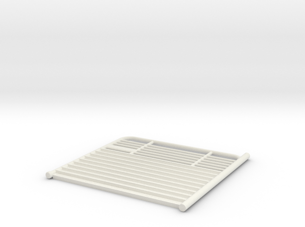 1/64 scale.rear gate for gooseneck brand catthe tr in White Strong & Flexible