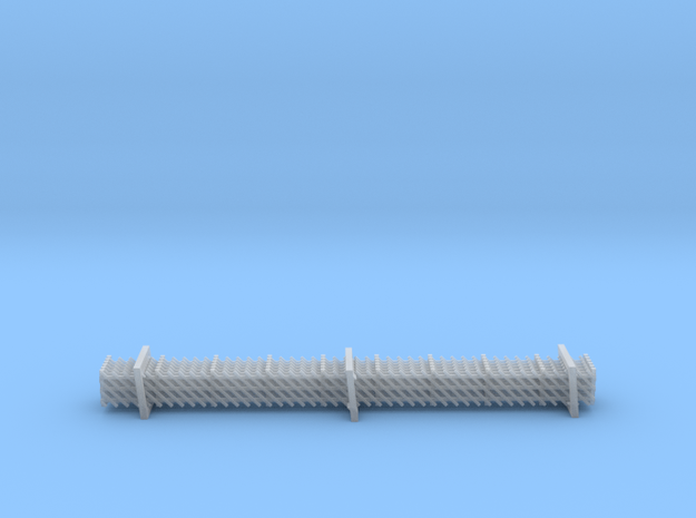 N Gauge Wooden Railway Station Fence 6x90mm in Smooth Fine Detail Plastic