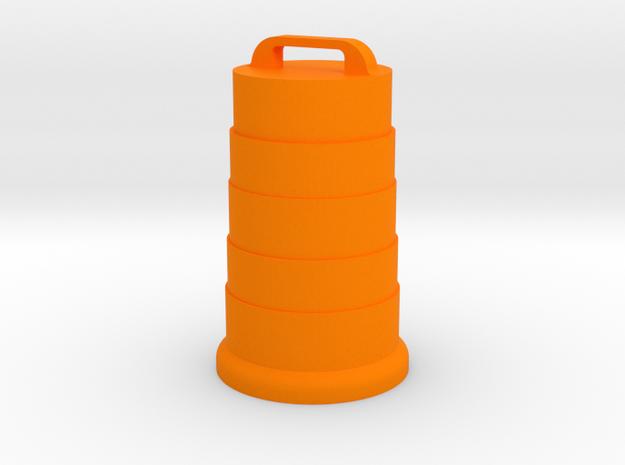 Safety Barrel in Orange Processed Versatile Plastic: 1:48 - O
