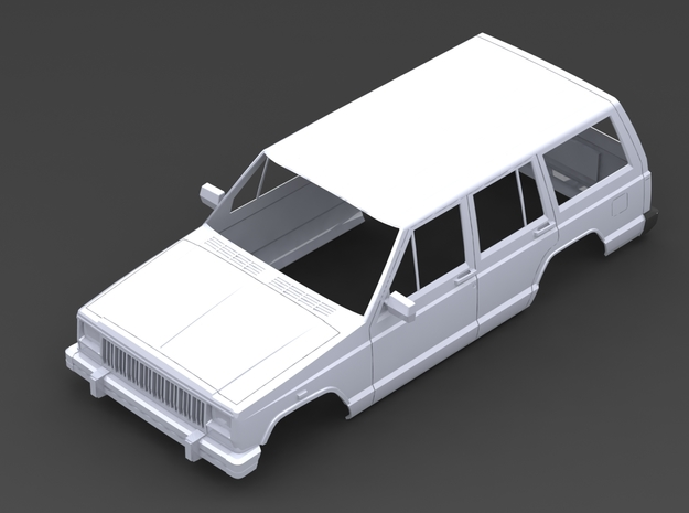 Jeep Cherokee 1/10 in White Natural Versatile Plastic