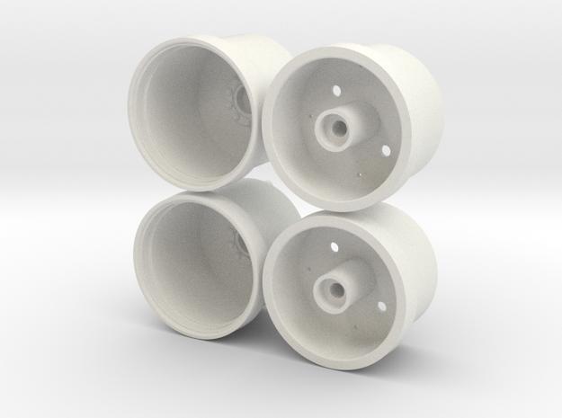 Marui Big Bear Front Wheels in White Strong & Flexible
