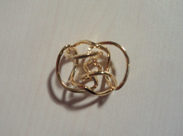 Knot 10₁₄₄ (Square) in 18k Gold Plated Brass: Extra Small