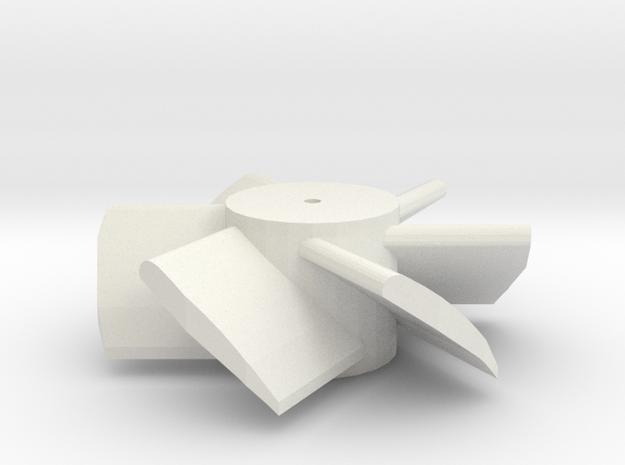 six blade micro edf turbine  in White Strong & Flexible
