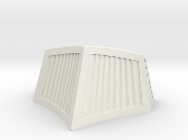OO / HO Snowplough Type 1 Size 1 in White Natural Versatile Plastic