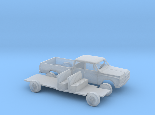 1/160 1967-69 Chevrolet C-Series Crew Cab Kit in Smooth Fine Detail Plastic