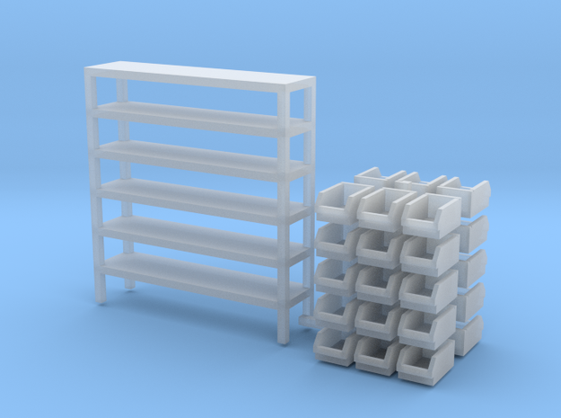 1/64 Rack Bin 2nd style in Smoothest Fine Detail Plastic