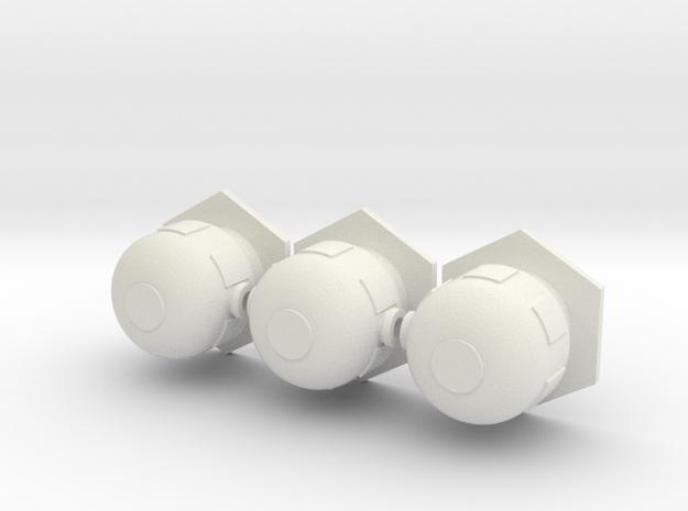 1/285th scale Fuel tank set (3 pieces) in White Natural Versatile Plastic