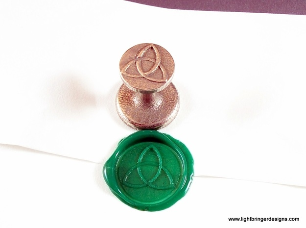 Trinity Wax Seal in Polished Bronzed Silver Steel