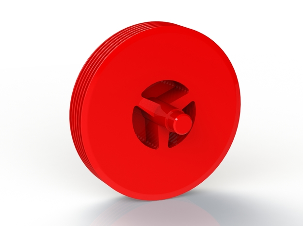 Tesla Turbine 6 Disc Rotor in Red Processed Versatile Plastic