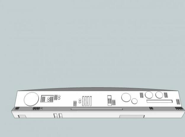Arc'd Back console - straight 3d printed Description