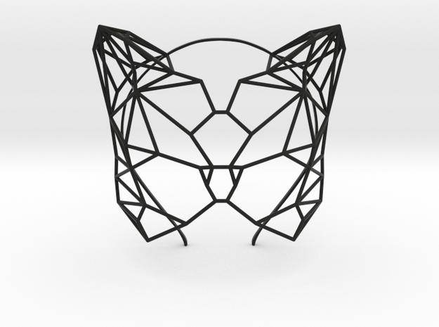 Feline Masquerade Mask in Black Natural Versatile Plastic