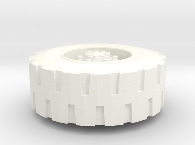 TR: LG42 GodBomber Front Wheel in White Processed Versatile Plastic
