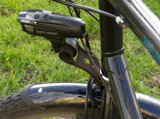 Bike Front Torch Holder Universal 3d printed Bike torch installed on bike