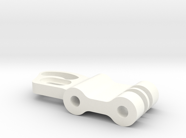Replacement Mount Arm  in White Strong & Flexible Polished