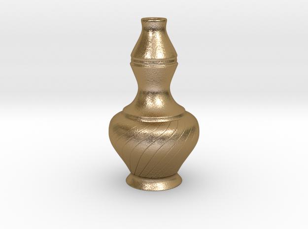 Labu Sayong Vase in Polished Gold Steel
