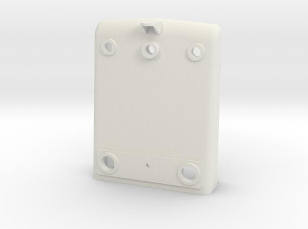 NS 2200 Huif front met zwaailicht steun,  Scale 0  in White Natural Versatile Plastic