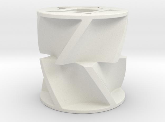 Fertilizer metering sprocket in White Natural Versatile Plastic