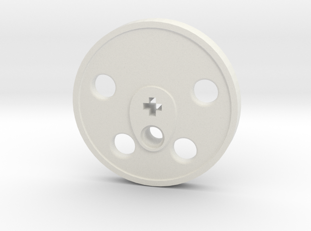 XXL Disc Driver - Blind, Large Counterweight in White Natural Versatile Plastic
