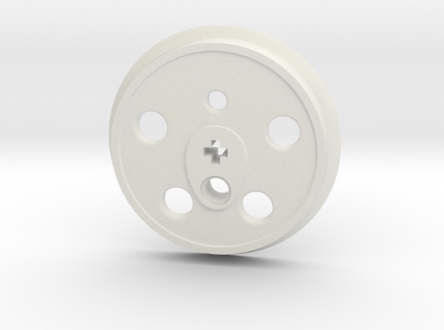 XXL Disc Driver - Small Counterweight, No Groove in White Natural Versatile Plastic