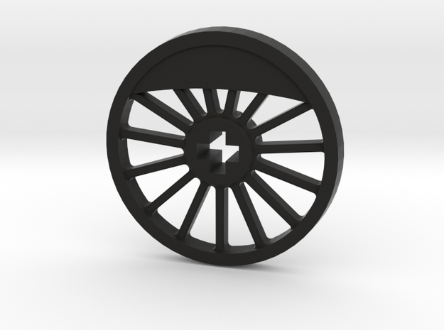 ML Thin Wheel With Counterweight - Blind in Black Natural Versatile Plastic