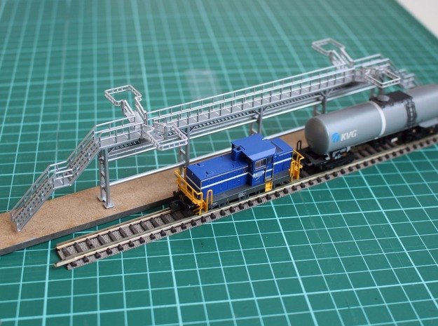 N Scale Tank Car loading Platform 2x2 Type 2 in Smooth Fine Detail Plastic