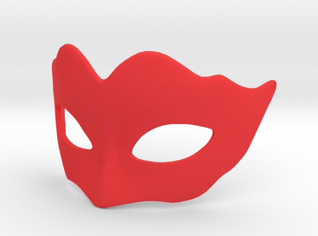 Miniature Mask in Red Processed Versatile Plastic