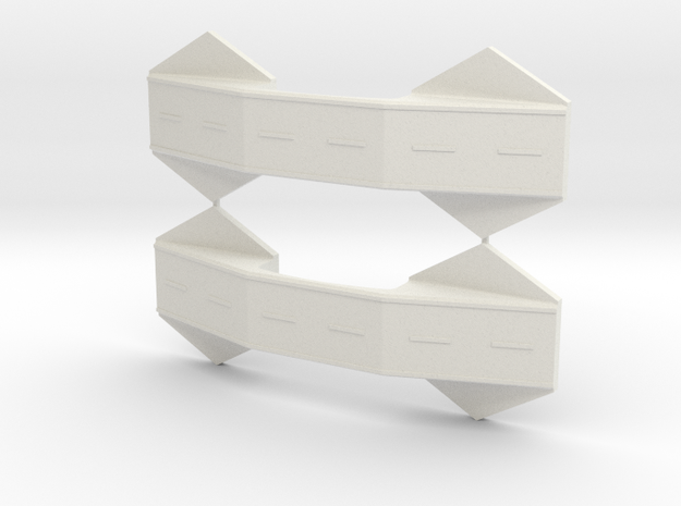 1/285th scale Bridge set (2 pieces) in White Natural Versatile Plastic