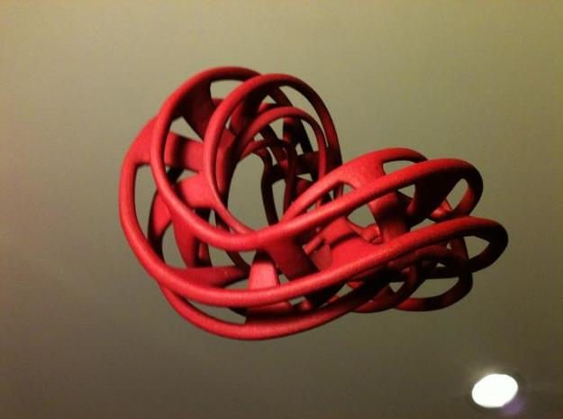 Mobius Hexagon Linkage 3d printed The Mobius Hexagon Linkage in Red Strong and Flexible (an actual photograph of the real printed object!)