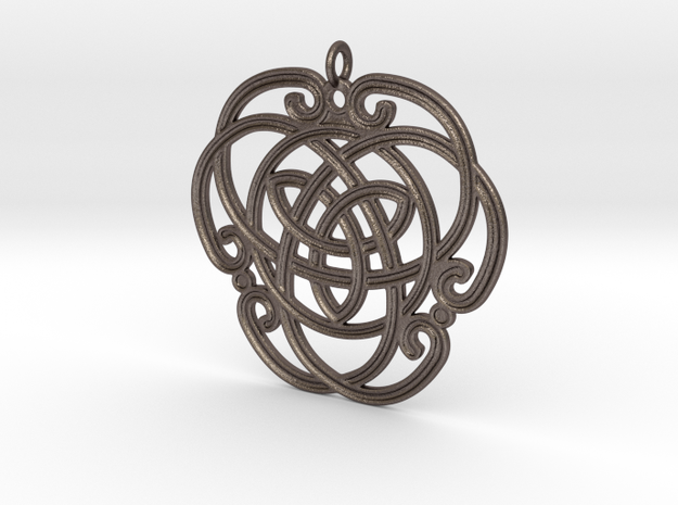 "Celtic Pendant ""Aoibhneas""  (EEV-nass) in Stainless Steel"