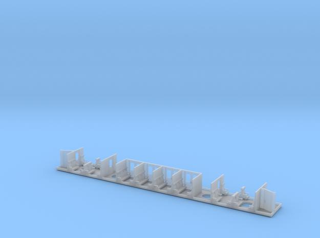 Wagoninterieur Mastica NS plan E 1e klasse in Smooth Fine Detail Plastic