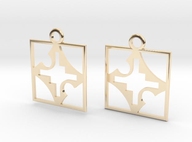 square cross hole earrings