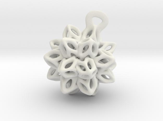P-Spring  flower. in White Natural Versatile Plastic