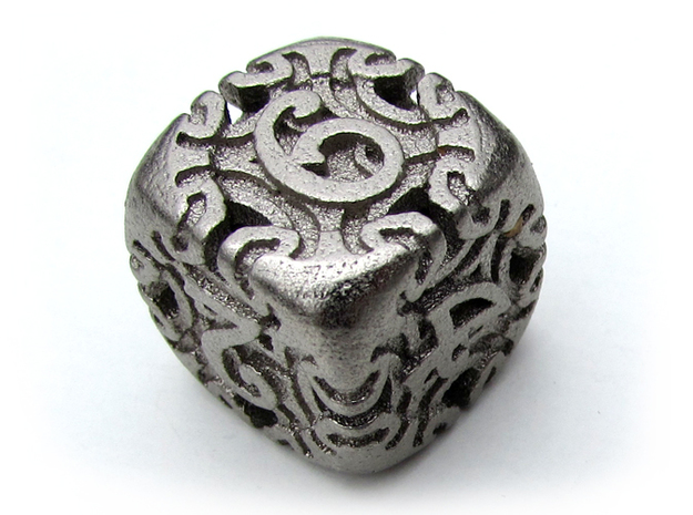 Art Nouveau Die6 in Polished Nickel Steel