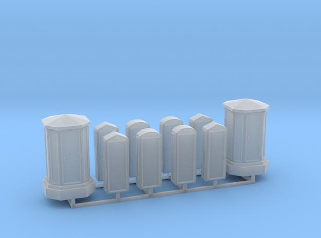 Linien- und Endverzweiger 10erSet - 1:120 TT in Smooth Fine Detail Plastic