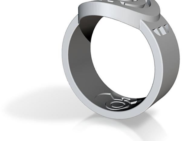 Blue Hope FF Ring Sz 14 3d printed