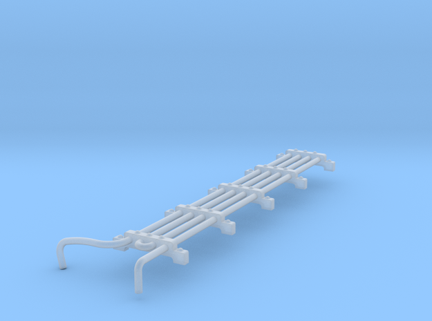 F Unit Roof Mount Cooling Coil N Scale in Smooth Fine Detail Plastic