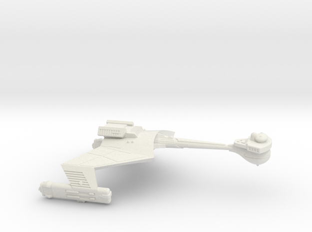 3788 Scale Klingon D6K Refitted Heavy Cruiser WEM in White Natural Versatile Plastic