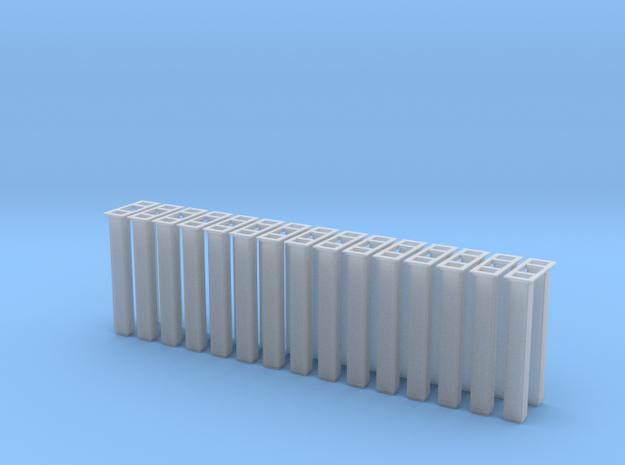 1/64 5000 Grain leg trunking 15pcs in Smooth Fine Detail Plastic