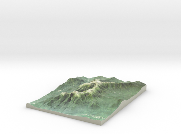 """Mount Washington Map: 8.5""""x11"""" in Coated Full Color Sandstone"""