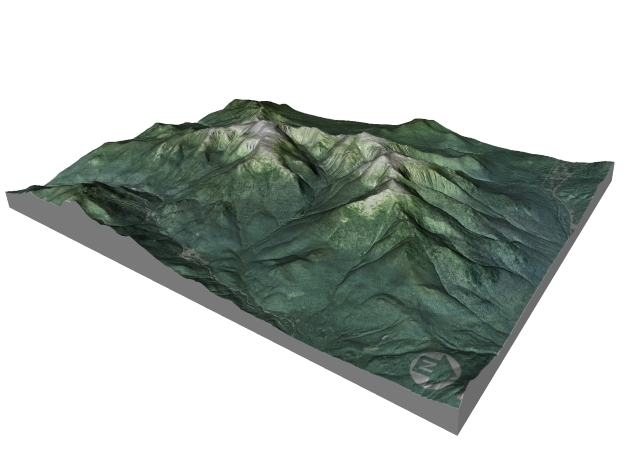 "Mount Washington Map: 8.5""x11"" in Full Color Sandstone"