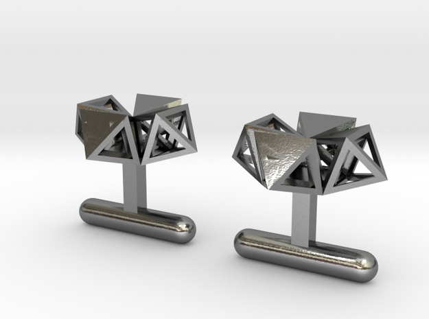Cufflinks Under Construction in Polished Silver