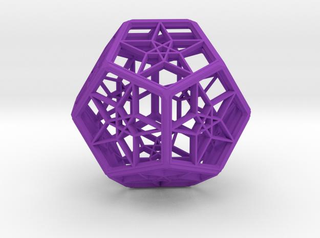 Dode Star in Purple Processed Versatile Plastic