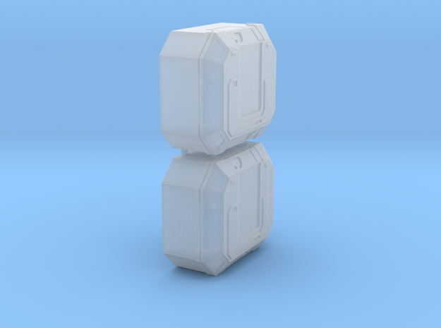 1:72 SW Lg Equipment Boxes  in Smooth Fine Detail Plastic